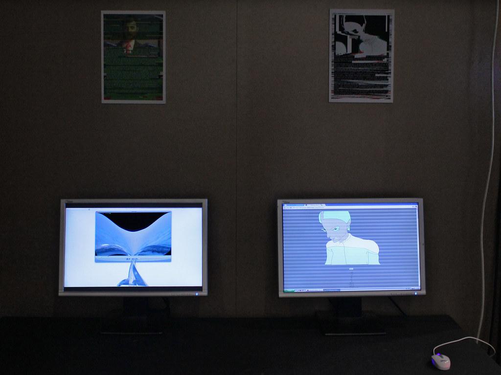 Jon Satrom - QTzrk (2011) http://Jonsatrom.com/  & Videogramo - olympic Games (2010)  http://www.videogramo.8bitpeoples.com