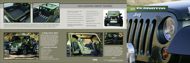 2005 auto show flyer jeep exotic vehicle concept copy copywriter gladiator multipurpose jeepgladiator bbdodetroit leeekstrom jeepcreative dennisoutlaw
