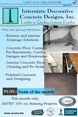 icrete landing page March 2011 (Bobby Stones) Tags: stain floors concrete decorative acid cement polish overlay designs interstate polished drainage basements resurface icretebiz