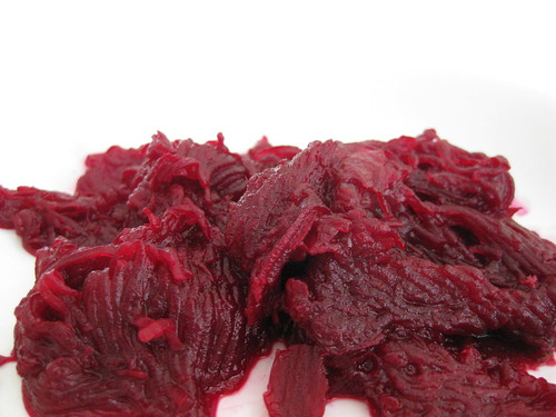 cooked grated beetroot