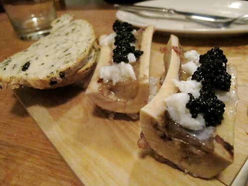 Bone marrow, caviar, crab