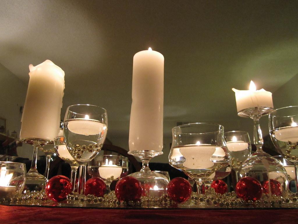 Christmas Dinner Table Centerpiece