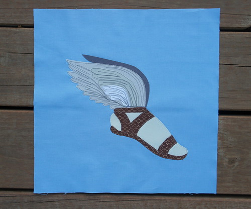 Winged Shoe Mythology Block for Mary - Bee Modern Too