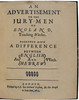 Title page of An advertissement to the jury-men of England