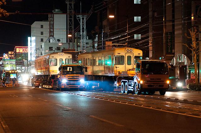 伊予鉄道700系 モハ711 モハ722 廃車陸送