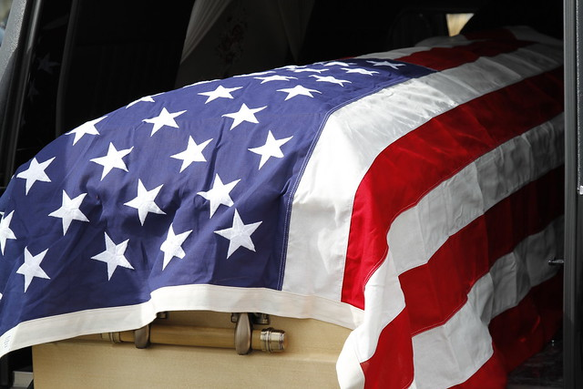 9259 flag on casket