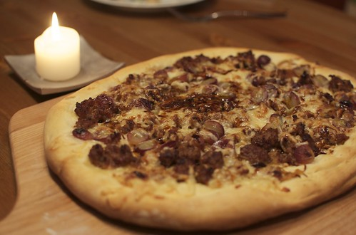Sausage and Grape Pizza (AGA)