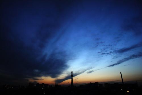 NEX-5で撮影した夕日の写真