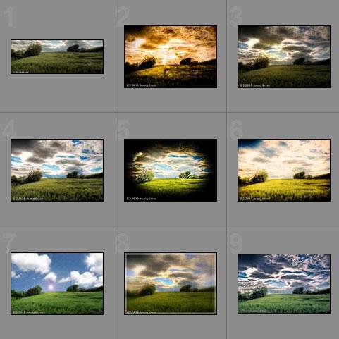 Experiment Bildbearbeitung - die Ergebnisse