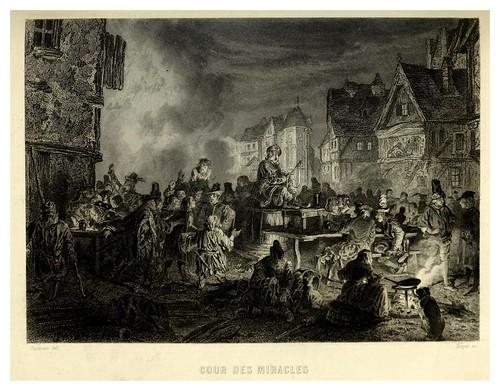 017-La Corte de los milagros-Notre-Dame de Paris 1844- edicion Perrotin Garnier Frères