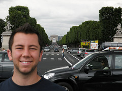 Me & Champs-lyses (dsjeffries) Tags: street trees paris cars champselysees traffic vehicles busy circulation arcdetriomphe iledefrance ladfense voitures avenuedeschampslyses danieljeffries