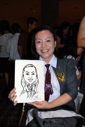Caricature live sketching for Swire Pacific Offshore & The China Navigation Company Pte Ltd Annual D&D - 6