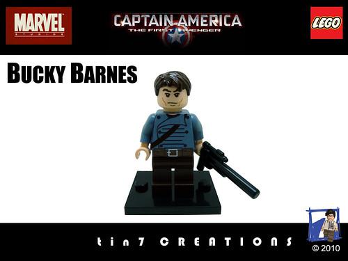 Custom minifig 77 - Bucky Barnes