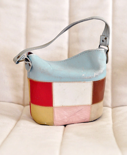 vintage patchwork leather small bag