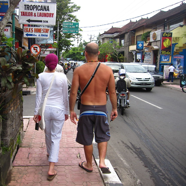 randomly observed tourists, Ubud