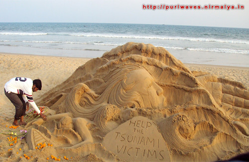 Sandy tribute to the Tsunami victims