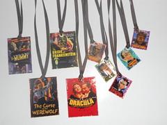 Large & Small Pendants (Rain's Embellishments) Tags: frankenstein mummy zombies 13 vampires wolfman brideoffrankenstein madscientist phantomoftheopera monsterparty rainsembellishments