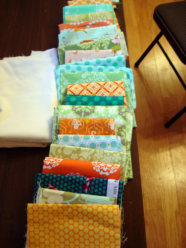 Lily's Quilts QAL fabrics