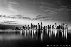 CITY LIGHTS (puthoOr photOgraphy) Tags: skyline doha qatar westbay d40 adobelightroom nikond40 puthoor gettyimagehq