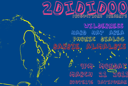 2DiDiDoo presents Phonic Dialog, Hard Hat Area, Wilderness and Barbie Almalbis