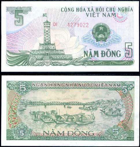 5 Dong Vietnam 1985, P92