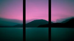 Trifold (TheJbot) Tags: longexposure sunset lake japan explore motosuko