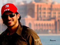 Moi (.Qanas.) Tags: red portrait me colors smile self uae palace emirates cap abu dhabi qanas rashed alzaabi