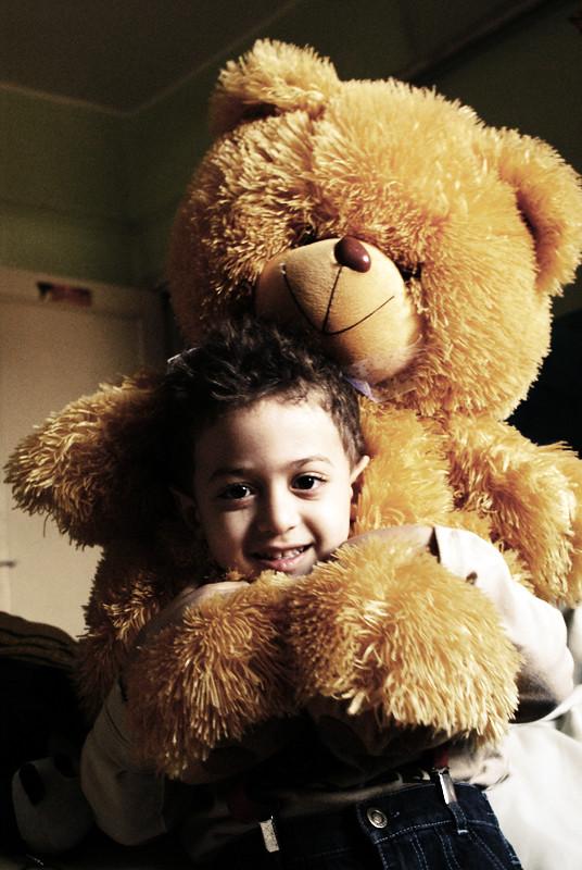 fun time with teddy bear