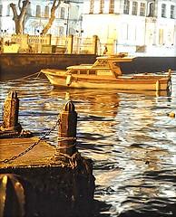 Solitary Boat (TaMiMi Q8) Tags: water turkey boat istanbul kuwait q8 tamimi