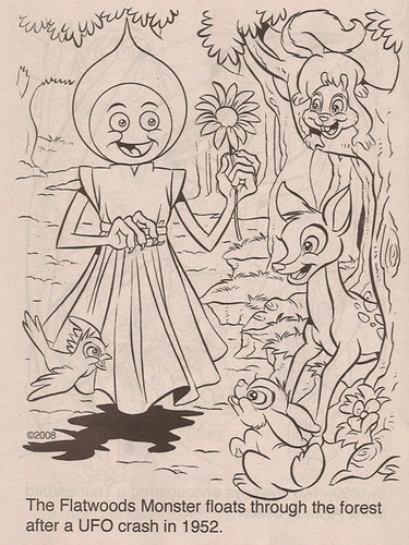 """Coloring Book Advantages"" :: ""Fun with Monsters"" ; Flatwoods Monster (( 2011 ))"
