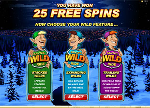 free Santa's Wild Ride free spins feature 1