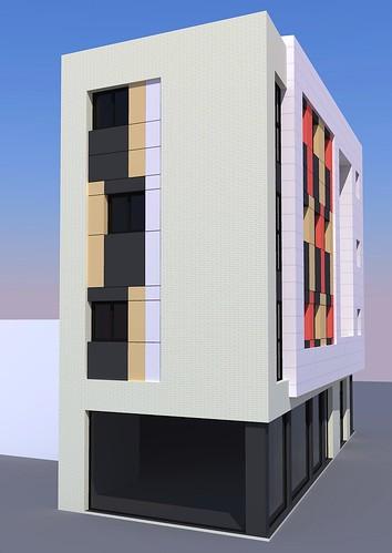 Edificio Menéndez Pelayo. Infografías.