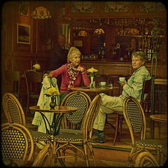 Volendam. Coffee talk. (egold.) Tags: portrait people holland netherlands coffee streetscene textures hdr volendam selectbestexcellence newgoldenseal sbfmasterpiece