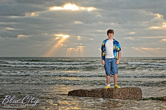 Heaven Let Your Light Shine Down (Trask Smith) Tags: pictures ocean portrait sun sunlight beach gulfofmexico water senior clouds portraits rocks waves texas photographer photos pics tx jetty overcast photographs rays freeport beams buccaneers jetties lakejackson surfside 2011 brazoswood brazoriacounty brazosport brazoswoodhighschool bluecityphotography bluecityphotographycom