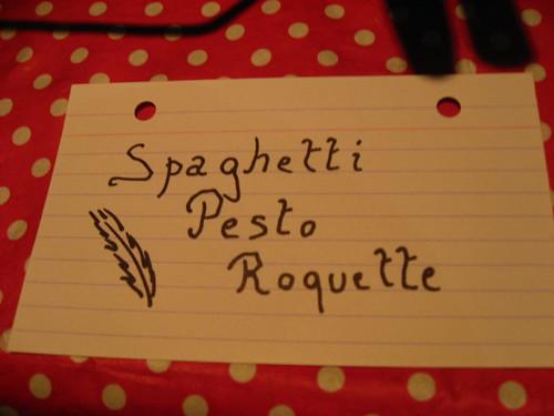 Spaghetti Pesto Roquette