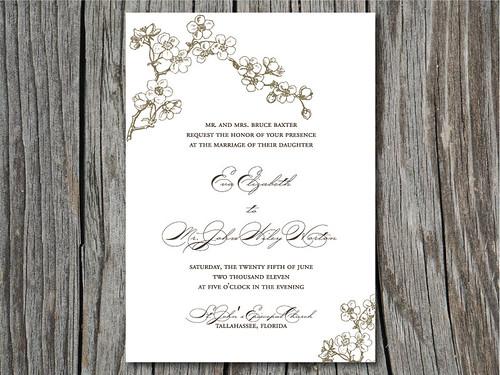 Cherry Blossom Wedding Invitation Suite