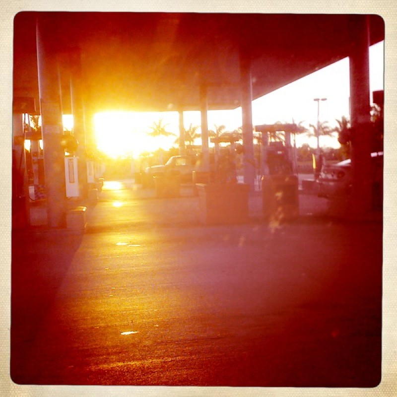 Sunset at the Gas Station, not the Beach