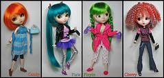 Supermodels (★dms_a_jem★) Tags: fashion doll dolls ooak clothes liv pullip custom greggia paja kirsche xiaofan