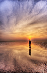 He is, in another place (gobayode photography...times) Tags: reflections landscapes seascapes ironman publicart lonelyplanet beachart sunsetsky palindrome antonygormley anotherplace sunsetcolors ironmen crosbybeach seftonbeach