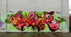 Hands Up In Oakland (Joe Ism) Tags: graffiti oakland hands awr msk rime theseventhletter