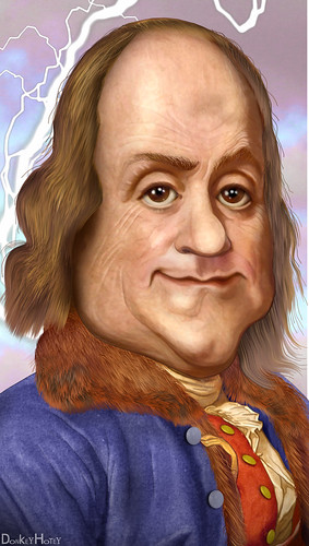 Benjamin Franklin - Caricature