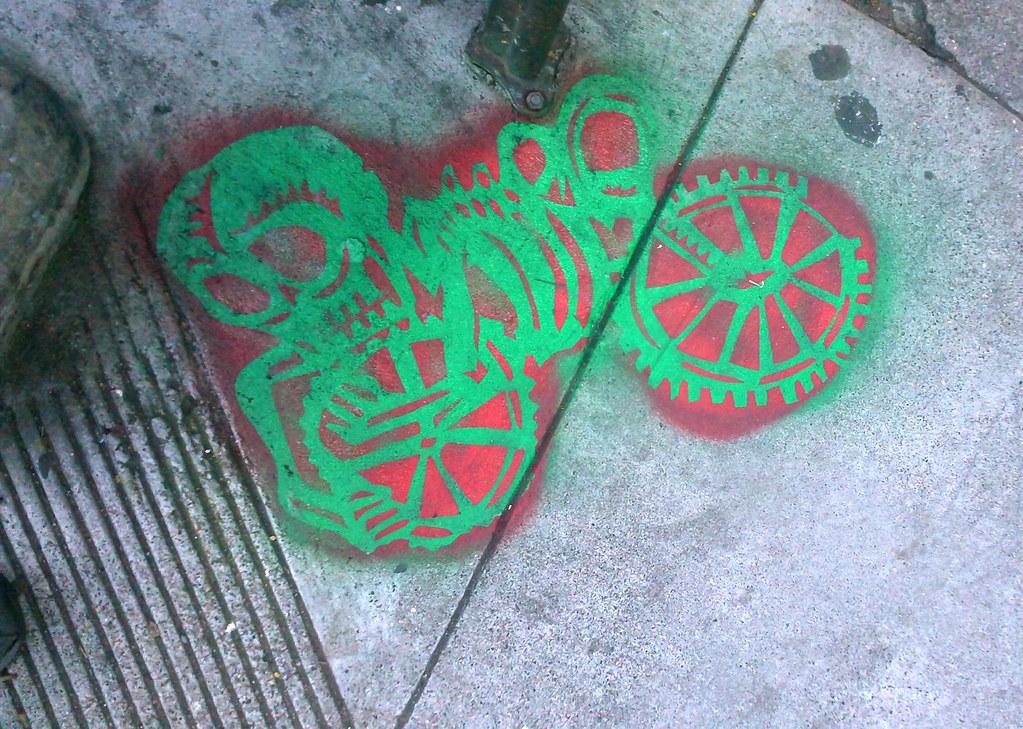 Micheal Roman stencil - San Francisco, Ca