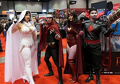Ghost, Wiccan, Scarlet Witch, Mister Sinister (BelleChere) Tags: chicago costume comic cosplay ghost marvel wiccan darkhorse scarletwitch c2e2 mistersinister