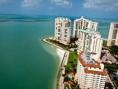 High Over Marco Island, Florida and Caxambus Pass - Picture Taken from a Kite (Wind Watcher) Tags: kite island florida pass sdm cape marco kap dopero windwatcher chdk caxambus