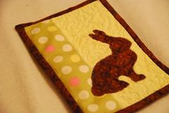 IC13 - Chocolate Bunny Mug Rug