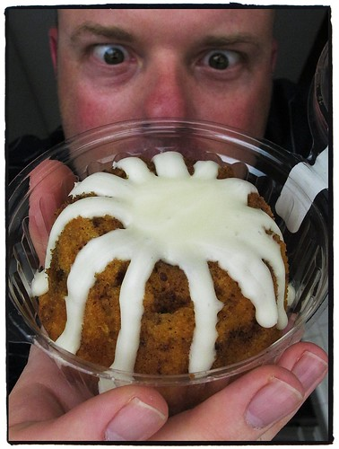 "A few months go Donna discovered a place called ""Nothing Bundt Cakes"" here in Thousand Oaks and their bundt cakes are absolutely amazing! That icing, in the center... yes, I goes the whole way down to the bottom. I've never bothered to look at the nutriti by BroAndDonna"