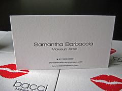 Bacci Makeup Letterpress Cards