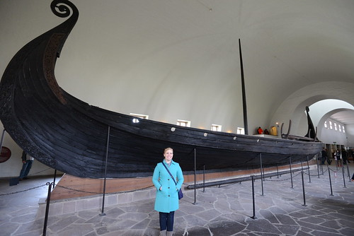 Mary at Viking Ship Museum, Oslo, Norway