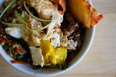 365.110 bi bim bap (mintyfreshflavor) Tags: food cooking kitchen bowl korean friedegg 365 kimchi bibimbap 365days
