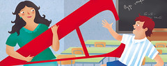 voti a scuola (paola formica) Tags: editorialillustration child teacher school alphabet